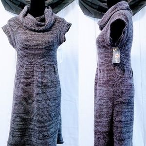 Cowl Neck knit acrylic & lambswool dress size L🦄